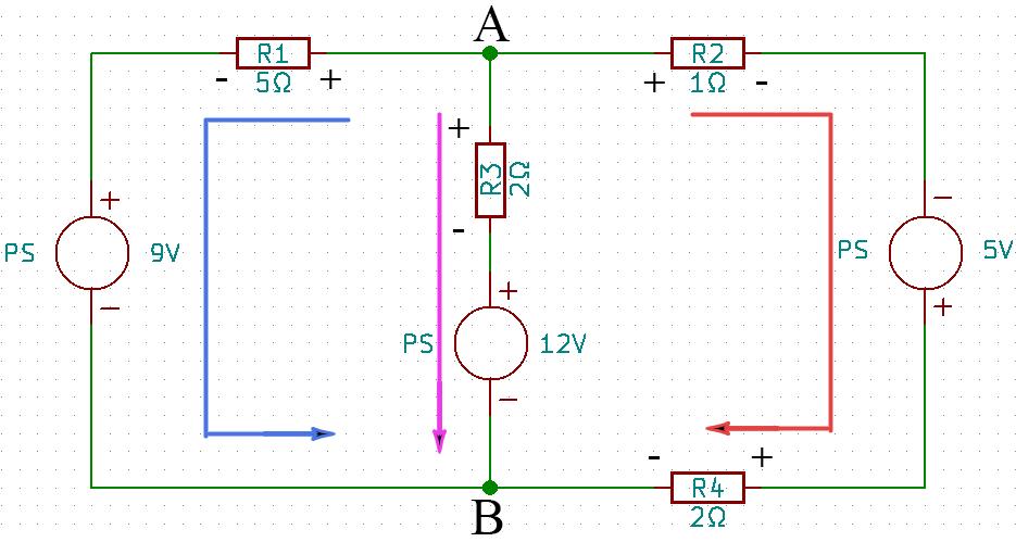 circuito eléctrico corrientes