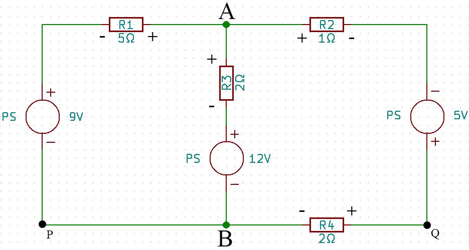 circuito eléctrico mallas kirchhoff