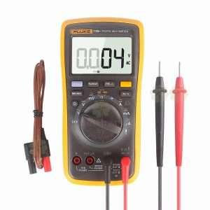 FLUKE 17B + AC-DC Voltaje, corriente, capacitancia, ohmio Rango automático-manual Multímetro digital con medición de temperatura