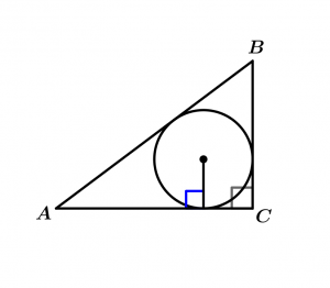 circumference-inscribed-in-a-right-triangle