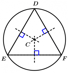 mediatrix-equilateral-triangle-circumference