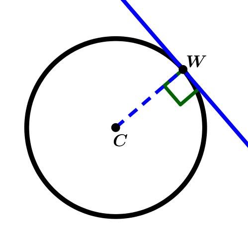 recta-tangente-a-la-circunferencia