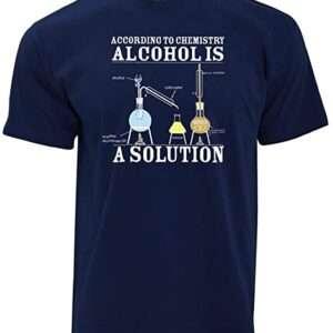 Nerd playera según Chemisty Alcohols A Solution