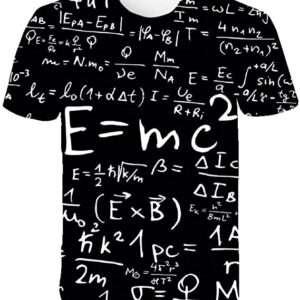 Playeras,Novedad Unisex 3D Fórmula Matemática Camisetas Estampadas Verano Pareja Manga Corta Impresión De Moda Casual Camisetas De Gran Tamaño Tops para Hombres Mujeres Jóvenes